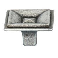"Siro Designs - Toskana - 1 3/8"" (35mm) Knob in Antique Pewter"