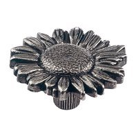 Siro Designs - Edelweiss - Antique Silver Daisy Knob