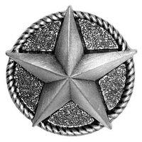 Sierra Lifestyles - Western Design - Star Knob in Pewter