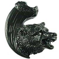 Sierra Lifestyles - Wildlife Design - Bear with Claw Knob Left in Black