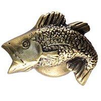 Sierra Lifestyles - Sportsman Design - Bass Knob Right in Antique Brass