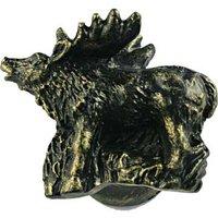 Sierra Lifestyles - Wildlife Design - Standing Elk Knob Right in Bronzed Black
