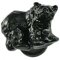 Sierra Lifestyles - Wildlife Design - Grizzly Knob Left in Black