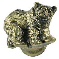 Sierra Lifestyles - Wildlife Design - Grizzly Knob Left in Antique Brass