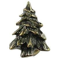 Sierra Lifestyles - Woodlands Design - Tree Knob in Antique Brass