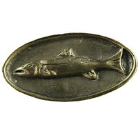 Sierra Lifestyles - Sportsman Design - Fish Mount Knob in Antique Brass