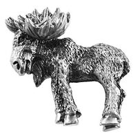 Sierra Lifestyles - Wildlife Design - Realistic Moose Knob Right in Pewter