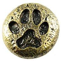 Sierra Lifestyles - Western Design - Wolf Track Knob in Antique Brass