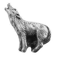 Sierra Lifestyles - Western Design - Howling Wolf Knob Right in Pewter