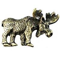 Sierra Lifestyles - Wildlife Design - Moose Pull in Antique Brass