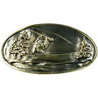 Sierra Lifestyles - Sportsman Design - Fly Fishing Pull in Antique Brass