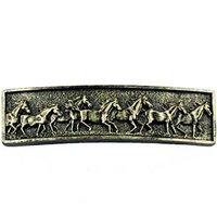 Sierra Lifestyles - Western Design - Running Horse Pull in Bronzed Black