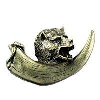 Sierra Lifestyles - Wildlife Design - Bear With Claw Pull in Antique Brass
