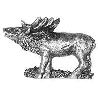 Sierra Lifestyles - Wildlife Design - Standing Elk Pull in Pewter