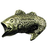 Sierra Lifestyles - Sportsman Design - Bass Pull in Antique Brass