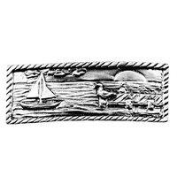 Sierra Lifestyles - Coastal Design - Sail Boat Scene in Pewter