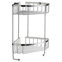 """SMEDBO - Sideline Shower Baskets - Double Corner Basket 6 1/2"""" in Polished Chrome"""
