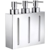 SMEDBO - Outline Bathroom Line - Wall Mounted Triple Pump Soap Dispenser in Polished Chrome