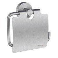 SMEDBO - Home Bathroom Line - Toilet Tissue Holder with Lid Brushed Chrome
