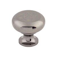 "Top Knobs - Somerset - Flat Faced Round Knob 1 1/4"" - Black Nickel"