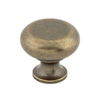 "Top Knobs - Somerset - Flat Faced Round Knob 1 1/4"" - German Bronze"