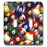 Jazzy Wallplates - Sports - Double Toggle Wallplate With Billiard Balls Pool