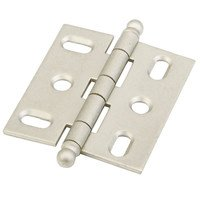 Schaub and Company - Hinges - Ball Tip Hinge in Distressed Nickel
