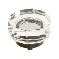 """Schaub and Company - City Lights - 1 3/4"""" Diameter Large Multi-Sided Glass Knob in Oil Rubbed Bronze"""