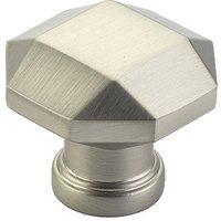 "Schaub and Company - Menlo Park - 1 1/4"" Diameter Faceted Knob in Satin Nickel"