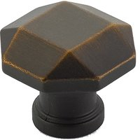 "Schaub and Company - Menlo Park - 1 1/4"" Diameter Faceted Knob in Ancient Bronze"
