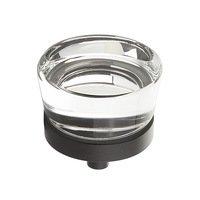 "Schaub and Company - City Lights - 1 3/8"" Diameter Glass Knob in Oil Rubbed Bronze"