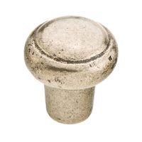 Schaub and Company - Mountain Cast Bronze - Round Knob in Italian Nickel