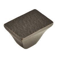 "Schaub and Company - Vinci Cast Bronze - 1 1/4"" x 7/8"" Rectangle Textured Knob in Antique Bronze"