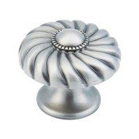 "Schaub and Company - Casual Elegance - 1 3/8"" Light Antique Nickel Knob"