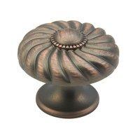 "Schaub and Company - Casual Elegance - 1 3/8"" Michelangelo Bronze Knob"