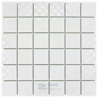 """Stellar Tile - Mosaic - 2"""" x 2"""" Porcelain Mosaic Tile in White"""