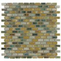 "Stellar Tile - Rustica - 1/2"" x 1"" Porcelain Mosaic Tile in Spring Field"