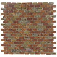 "Stellar Tile - Rustica - 1/2"" x 1"" Porcelain Mosaic Tile in Tundra Beige"