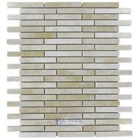 "Stellar Tile - Rustica - 1/2"" x 3"" Porcelain Mosaic Tile in Perla Bone"