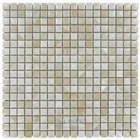 "Stellar Tile - Rustica - 9/16"" x 9/16"" Porcelain Mosaic Tile in Perla Bone"