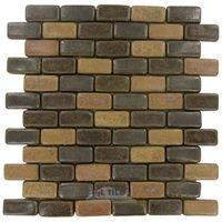 "Stellar Tile - Cobble - 1"" x 2"" Ceramic Mosaic Tile in Cimmaron"