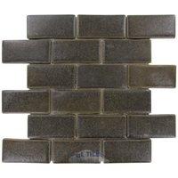 Stellar Tile - Cobble - Ceramic Mosaic Tile in Noce