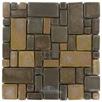 Stellar Tile - Cobble - Ceramic Mosaic Tile in Cimmaron