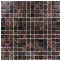 "Stellar Tile - Coppa - 3/4"" x 3/4"" Glass Mosaic Tile in Brown Gold"