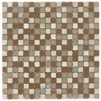 "Stellar Tile - Tessera - 5/8"" x 5/8"" Glass & Stone Mosaic Tile in Breno"