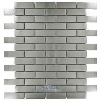 Stellar Tile - Meta - Mosaic Tile in Steel
