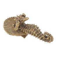 Schaub and Company - Nature - Solid Brass Pendant Seahorse Knob in Estate Dover
