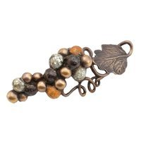 "Schaub and Company - Wine & Grapes - Grape Vine Pull, 4 9/16"" CC in Dark Bronze Hi Lited"