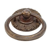 Schaub and Company - Sunburst - Solid Brass burst Ring Pull in Hi Lited Bronze
