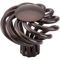 Top Knobs - Normandy - Large Flower Twist Knob in Oil Rubbed Bronze